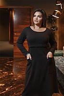 Симпотичное женское платье Черное. (3 цвета) Р-ры: 50-62. (104)462 А.  , фото 1