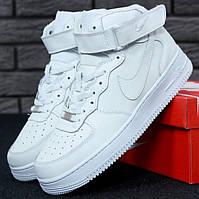 Женские кроссовки Nike Air Force 1 Low Высокие белые 1в1 Как Оригинал! Найк аир форс ТОП (ААА+)