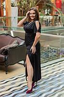Очаровательное женское платье Черное. (4 цвета) Р-ры: 50-58. (104)448 А. , фото 1