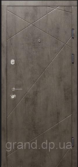 Двери входные металлические квартирные  Магда  100/2 бетон темный /бетон светлый
