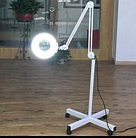 Лампа-лупа светодиодная косметологическая Лампа-лупа на штативе для косметолога напольная 5 диоптр