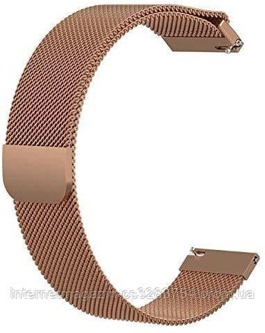 Ремешок BeWatch миланская петля 20 мм для смарт-часов Samsung Galaxy Watch Active/Active 2 40 мм Медный (1010209)