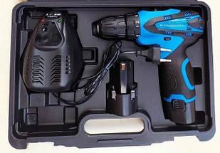 Шуруповерт аккумуляторный KRAISSMANN 1500 ABS 12-2 Li. Шуруповерт Крайсман 2 аккумулятора