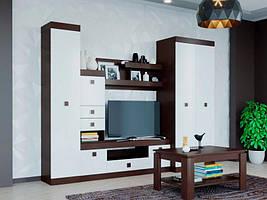 Гостиная Соната 1 венге + белый (270х50х205 см)