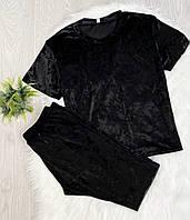 Женский костюм для дома и сна футболка и штаны S-M