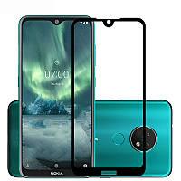Захисне скло для Nokia 6.2 чорний, фото 1