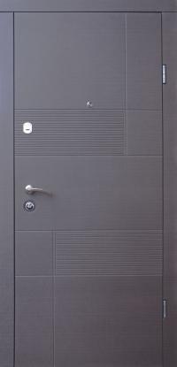 Входные двери металлические квартирные Магда 121/ 2 венге серый горизонт