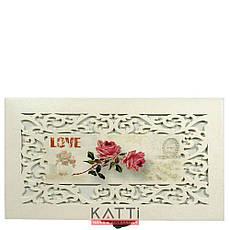 49124 шкатулка для бижутерии малая бокс Винтаж Love Роза бежевая, фото 2