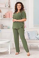 Классический женский костюм Зеленый. (3 цвета) Р-ры: 50-60. (104)473А., фото 1