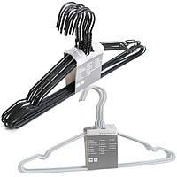 Вешалки плечики металлические 10шт черные, белые 43 см
