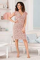 Легкое женское платье Розовое. (3 цвета) Р-ры: 42-48. (104)475. , фото 1