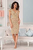 Легкое женское платье Желтое. (3 цвета) Р-ры: 42-48. (104)475. , фото 1