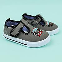 Серые кеды на мальчика текстильная детская обувь тм Том.м размер 20,21,22,23,24
