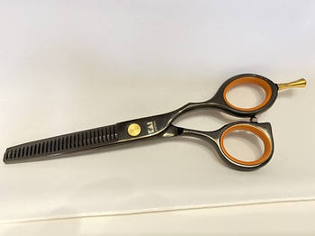 Ножницы для стрижки филировочные черные 16 см, Kasho