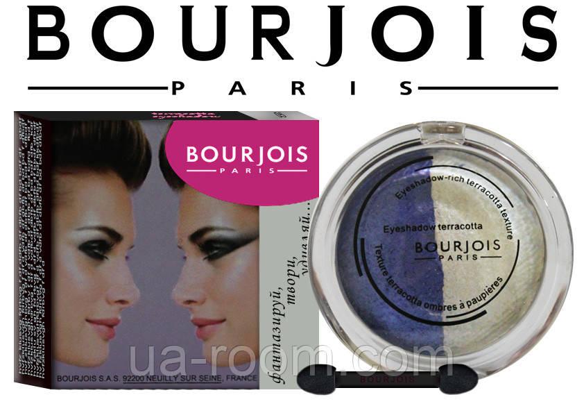 Тени для век запеченные Bourjois eyeshadow rich terracota texture