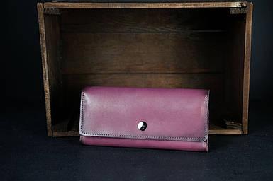 Шкіряний гаманець на 12 карт Шкіра Італійський Краст колір бордо