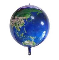 Фольгированный шар 3D планета Земля в виде глобуса 56 см