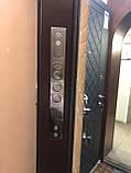 Двери металлические входные уличные Магда 121/2 венге горизонт серый, фото 6