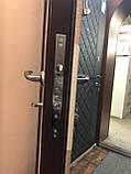 Двери металлические входные уличные Магда 121/2 венге горизонт серый, фото 7