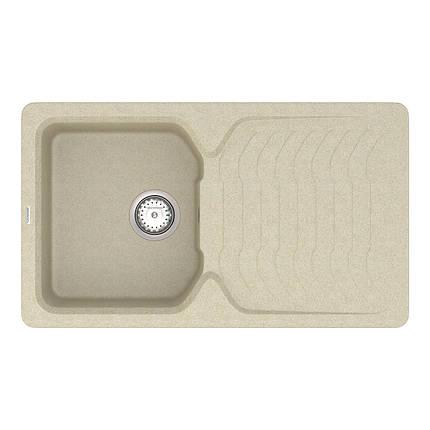 Кухонна мийка кварц 50*85 см VANKOR Sigma SMP 02.85 Beige, фото 2
