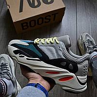 """Мужские кроссовки Adidas Yeezy Boost 700 Wave Runner """"Solid Grey"""" весна-осень демисезон. Фото в живую. Реплика"""