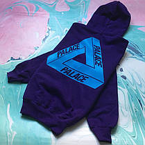 Худи фиолетовый Palace • толстовка пелес, фото 3