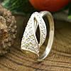 Серебряное кольцо ЯК43 вставка белые фианиты вес 2.1 г размер 17, фото 2
