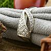 Серебряное кольцо ЯК43 вставка белые фианиты вес 2.1 г размер 17, фото 3