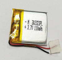 Батарея 110mAh 3.7V 302323 Литий-Полимер Аккумулятор для MP3 Плеера GPS Видеорегистратора