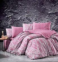 Комплект постельного белья ранфорс  Nazenin полуторный размер Arrigo Bordo