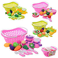 Продукты 2009-0, на липуч, овощи/фрукты, корзина, плита, посуда, 4в, в карт.оберт, 29-20-12, 5см