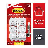 Крючки для ключей, для кухонных принадлежностей 3M Command белые18 шт, фото 1