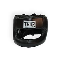 Защитный шлем боксерский THOR 707 (Leather) Nose Protection Blk, фото 1