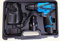 Шуруповерт аккумуляторный KRAISSMANN 1500 ABS 12-2 Li. Шуруповерт Крайсман 2 аккумулятора, фото 1