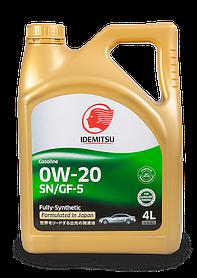 Масло моторное IDEMITSU 0W-20 SN/GF 5 4l