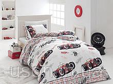 Комплект постельного белья ранфорс  Nazenin полуторный размер Old car