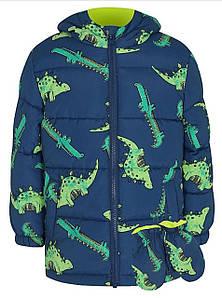 Куртка детская синяя Крокодил George (Англия)  р.80/86, 86/92см.
