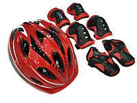 Комплект шлем и защита Sports Helmet размер S-M Красный 2-14 лет с регулировкой по объему (F18476/C34590)