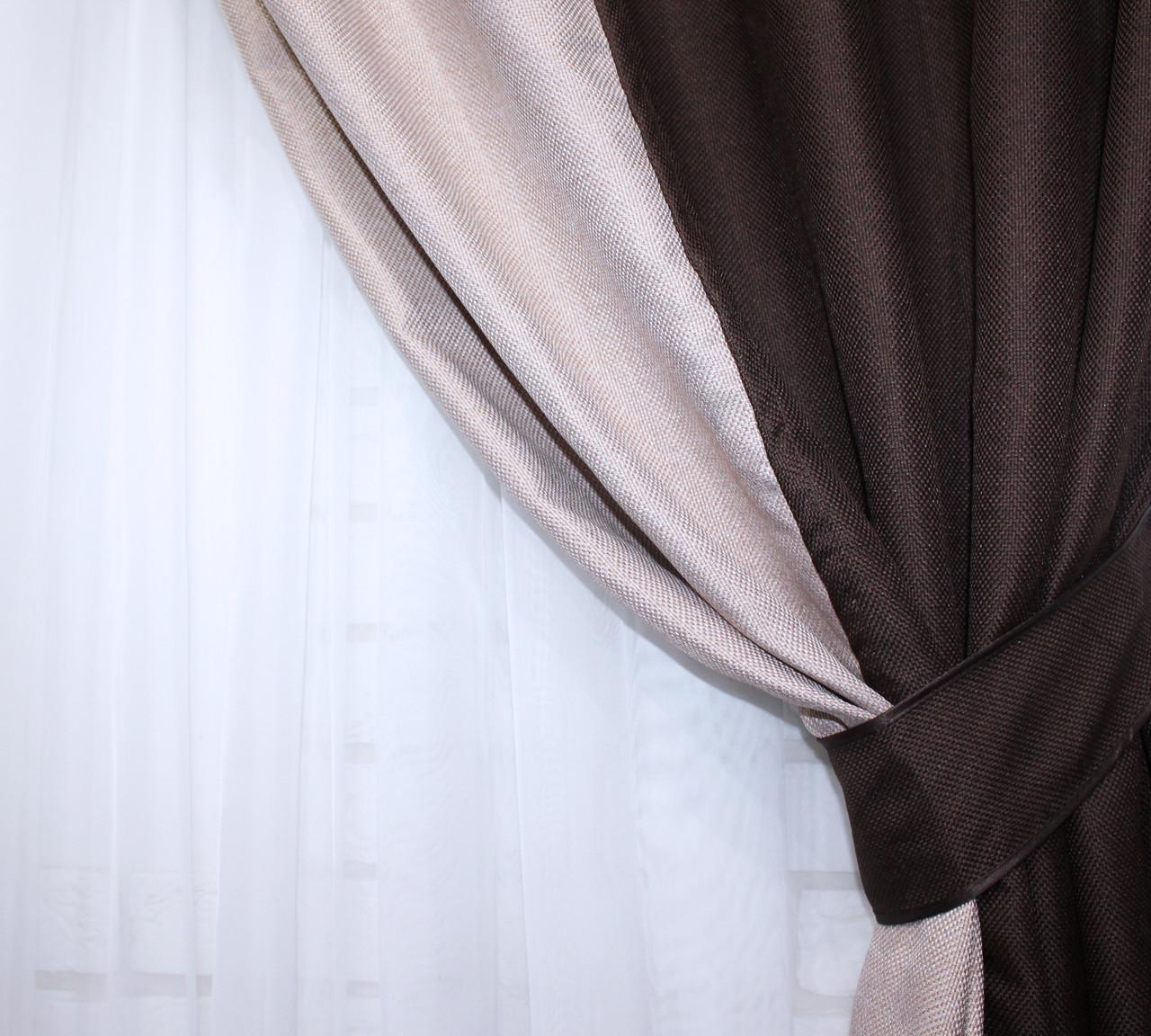 "Шторы из ткани блекаут ""Лён"" Код 014дк (291-292), фото 5"