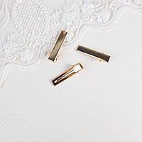 Мини заколка для волос 3.2 см, Розовое Золото