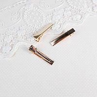 Мини заколка для волос 4 см, Розовое Золото