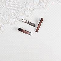 Мини заколка для волос 3.5 см, Серебро, фото 1