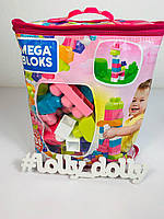 Конструктор Mega Bloks Мега блок CYP67 на 60 деталей, Розовый