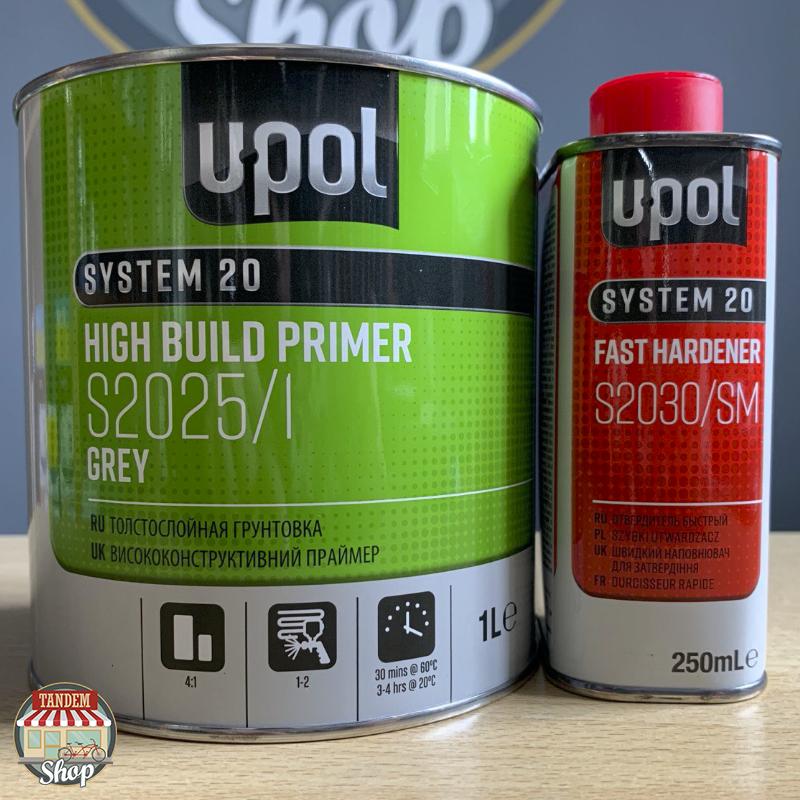 Грунт-наполнитель акриловый толстослойный U-POL S2025 UHS 4:1, 1 л + 250 мл комплект