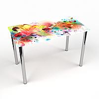 Стол обеденный на хромированных ножках Прямоугольный Dei colori