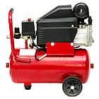 Компрессор 24 л, 2 HP, 1,5 кВт, 220 В, 8 атм, 206 л/мин INTERTOOL PT-0010, фото 5