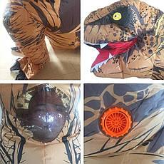 Надувной костюм Тираннозавра, T Rex косплэй, костюм динозавра T-Rex. Тиранозавр надувной (белый), фото 3