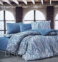 Комплект постельного белья ранфорс  Nazenin полуторный размер Arrigo Lacivert