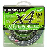 Шнур Trabucco X4 Power 150м 0,205мм 11,34кг болотно-зеленый (054-33-200)