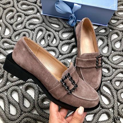 Туфли женские замшевые коричневые, фото 2